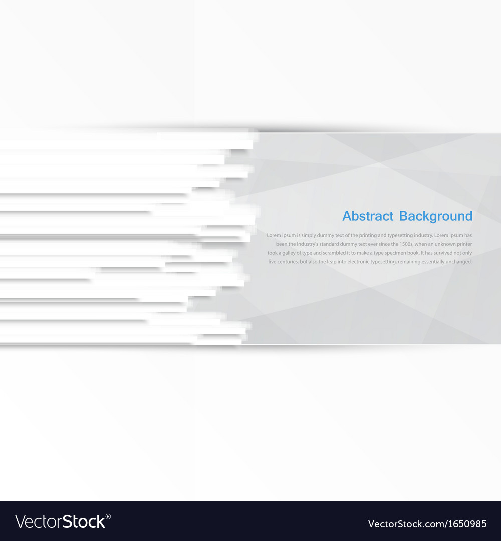 Banner background white line vector | Price: 1 Credit (USD $1)