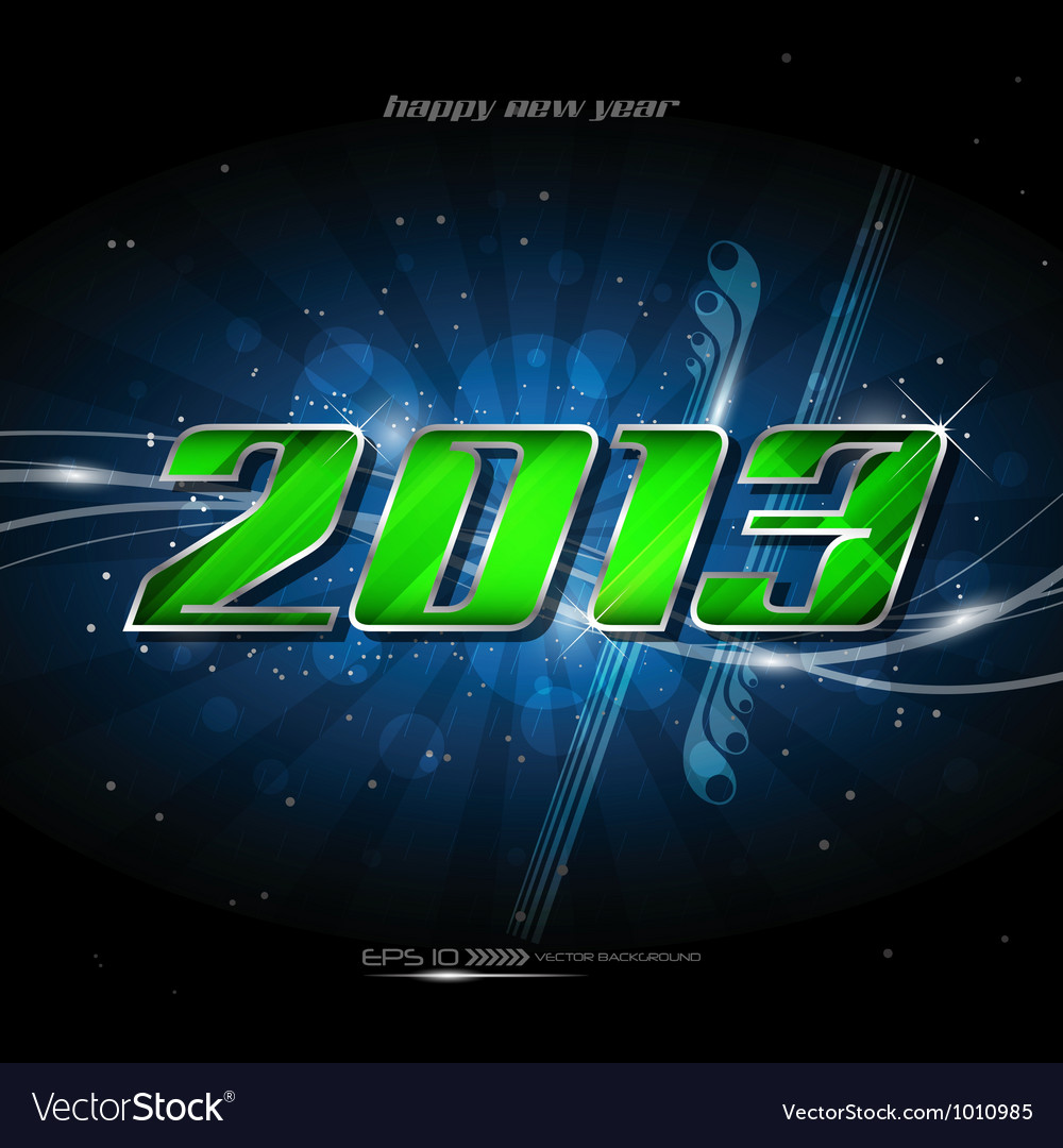 Banner happy new year 2013 vector | Price: 1 Credit (USD $1)