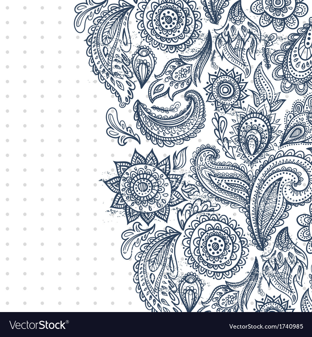 Beautiful vintage floral ornament vector | Price: 1 Credit (USD $1)