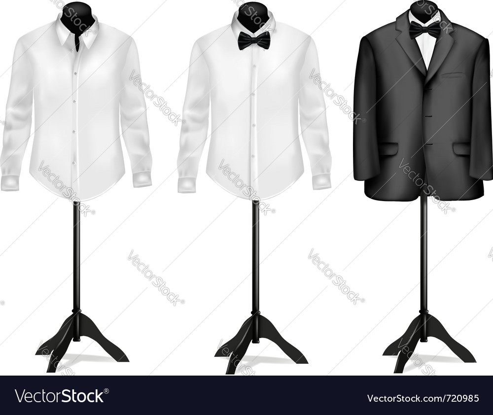 Black suit and white shirt vector | Price: 1 Credit (USD $1)