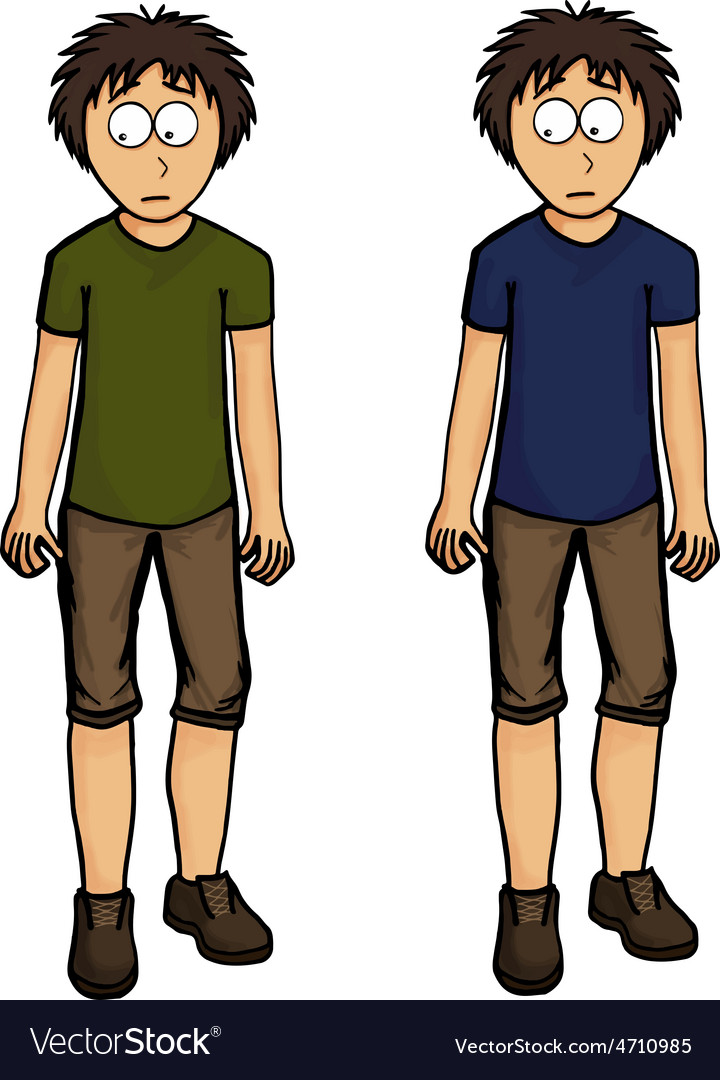 Boy in shorts design drawing emotion vector   Price: 1 Credit (USD $1)