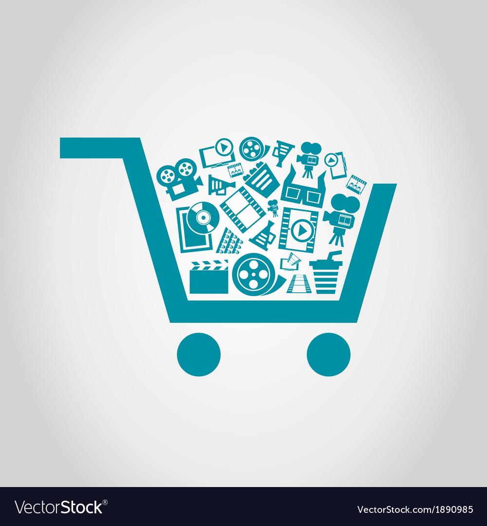 Cinema a cart vector | Price: 1 Credit (USD $1)