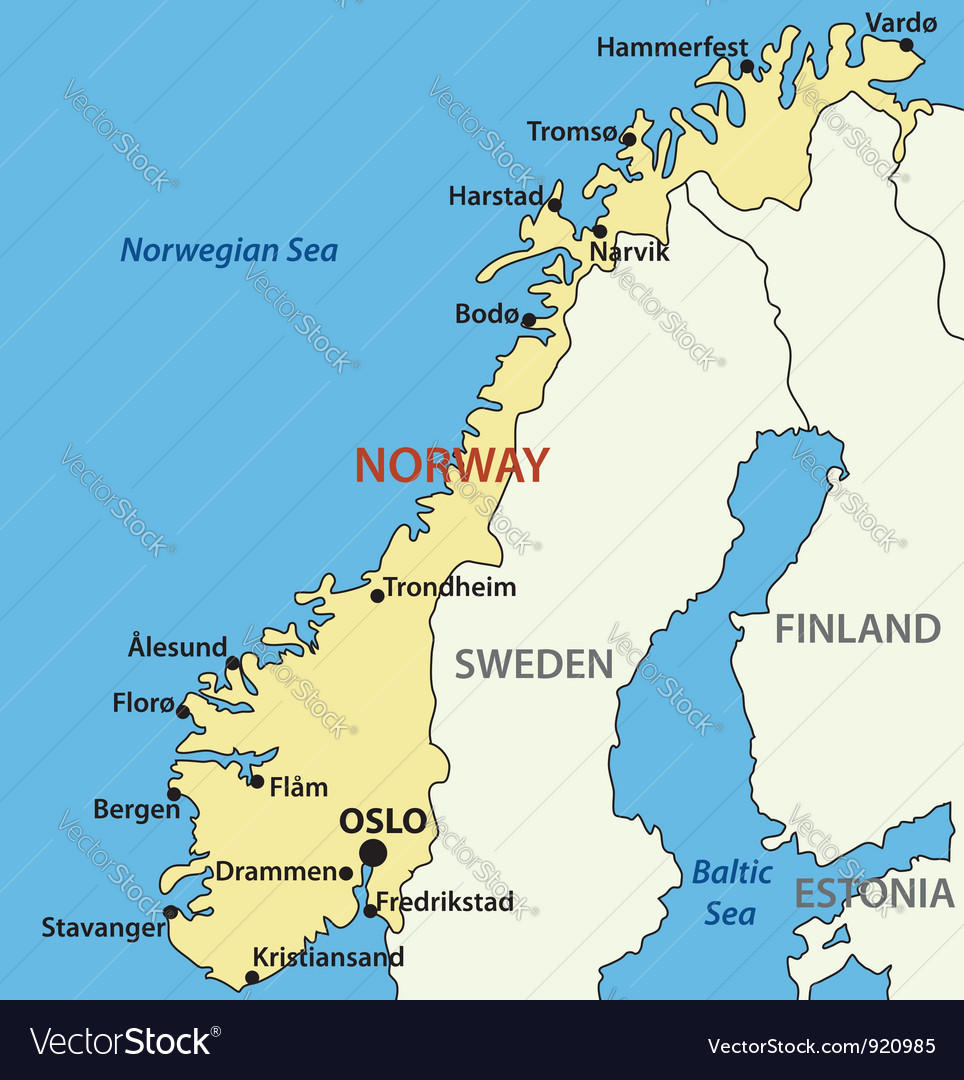 Map of norway vector   Price: 1 Credit (USD $1)