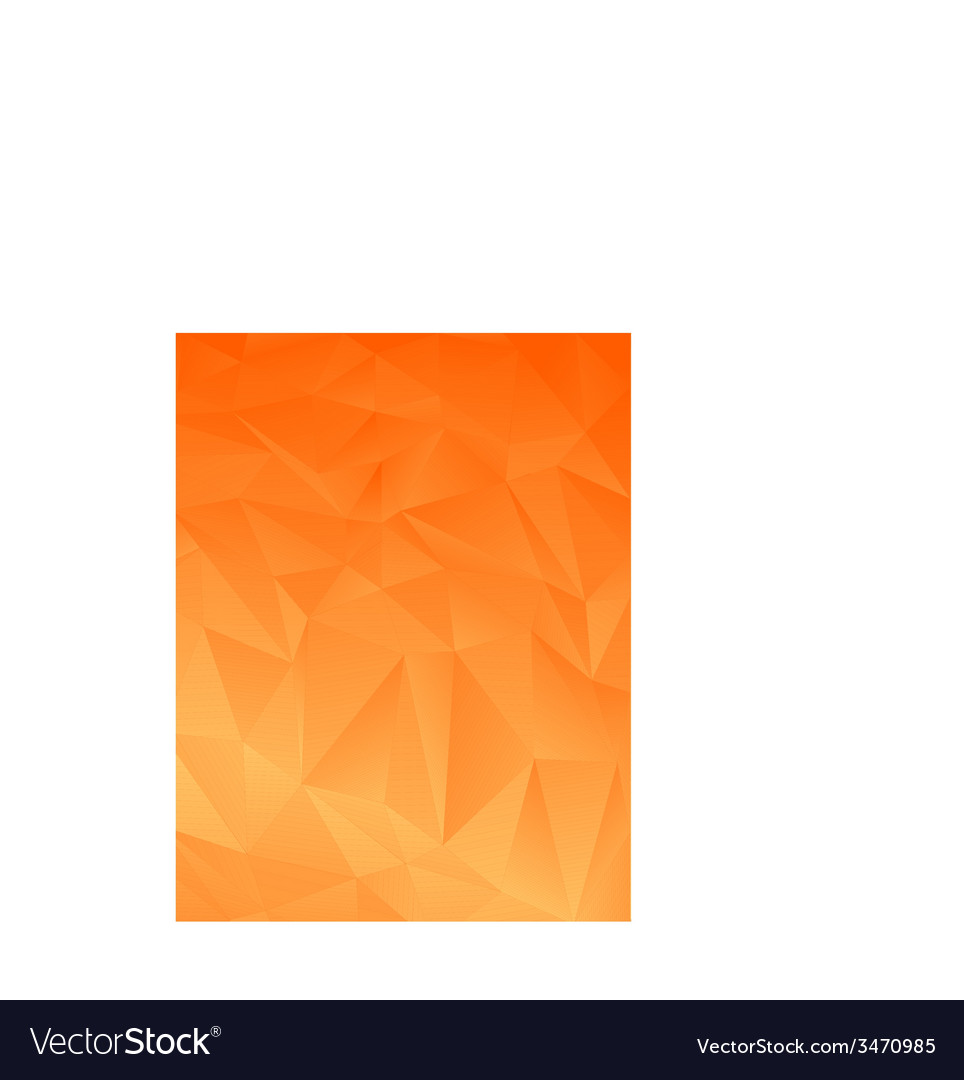 Orange abstract polygonal background vector