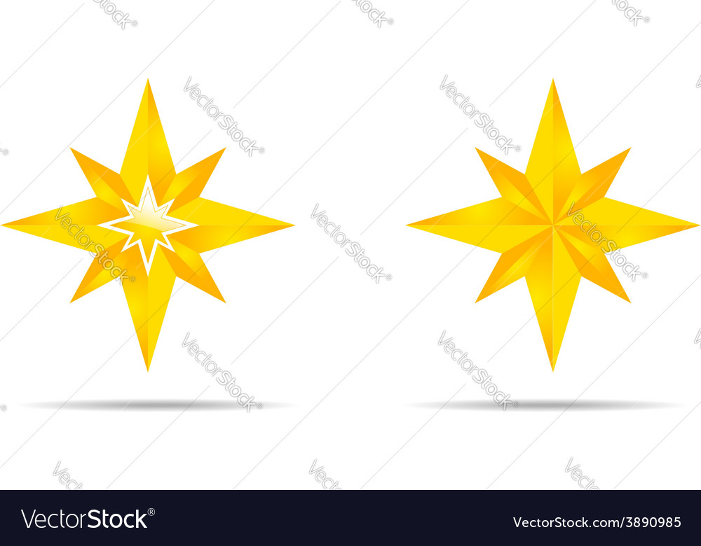 Pair of stars vector | Price: 1 Credit (USD $1)