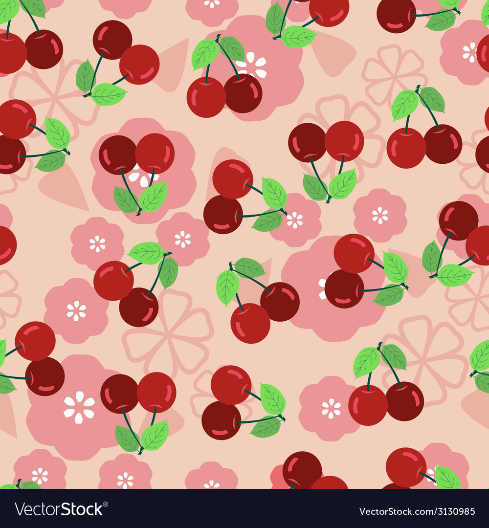 Pattern with a cherry - vector | Price: 1 Credit (USD $1)