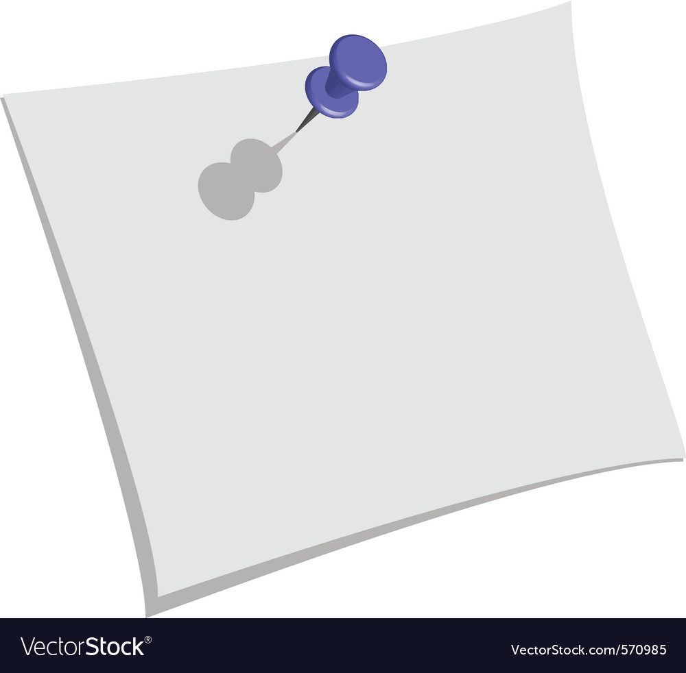 Pin and paper vector | Price: 1 Credit (USD $1)