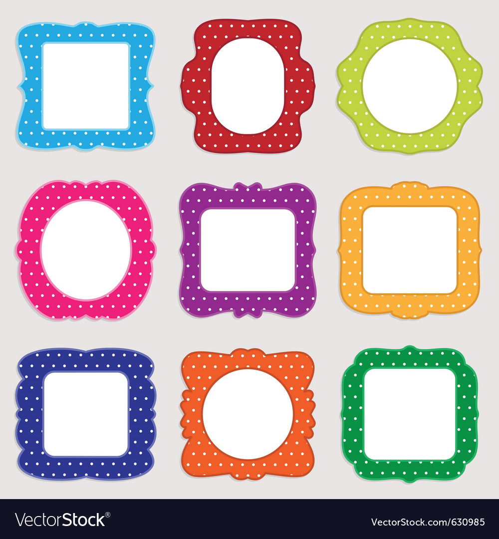 Polka dot frames vector | Price: 1 Credit (USD $1)