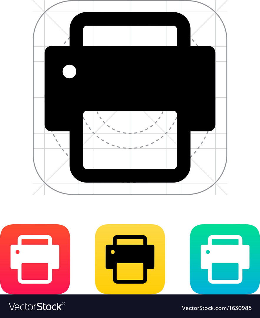 Printer icon vector | Price: 1 Credit (USD $1)