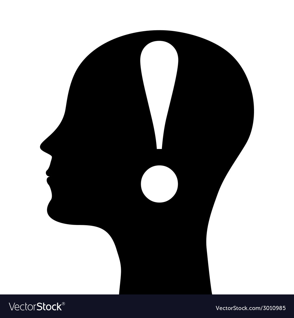 Silhouette of a man head vector | Price: 1 Credit (USD $1)