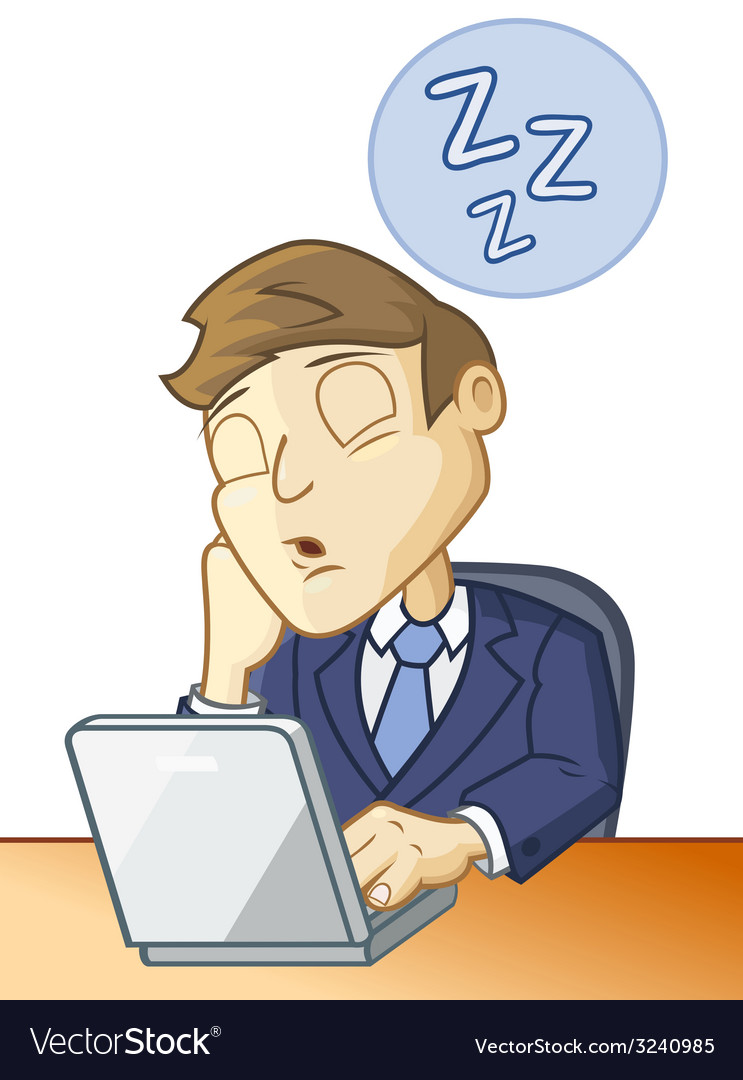 Sleeping at the desk vector | Price: 3 Credit (USD $3)