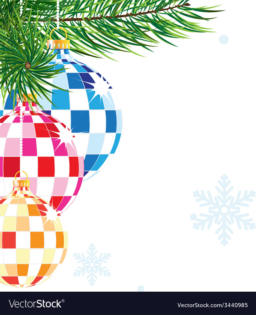 Sparkling christmas decorations vector | Price: 1 Credit (USD $1)