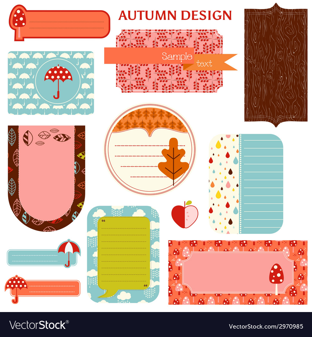 Tags - autumn set vector | Price: 1 Credit (USD $1)