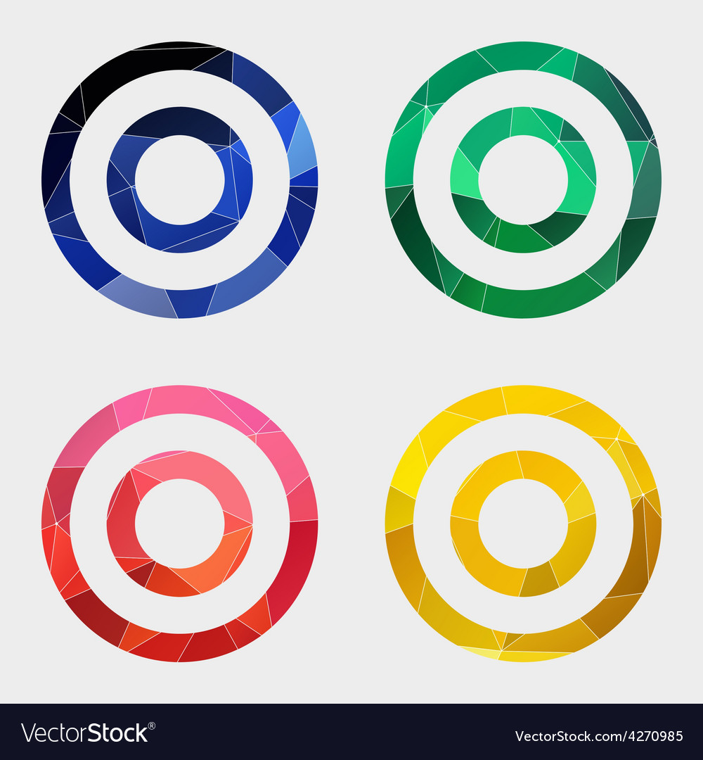 Target icon abstract triangle vector | Price: 1 Credit (USD $1)