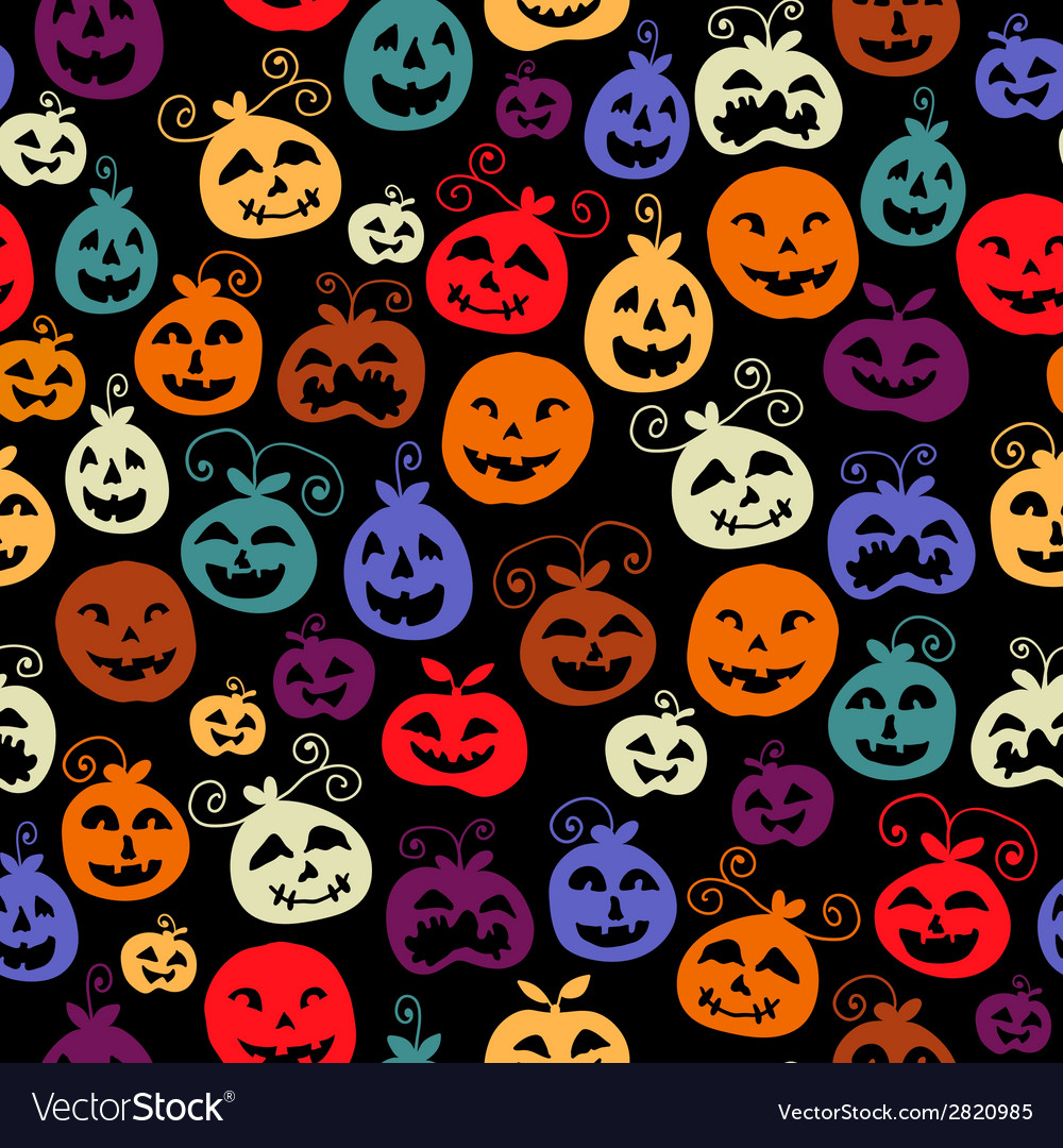 Traditional halloween carved smiling pumpkins vector | Price: 1 Credit (USD $1)