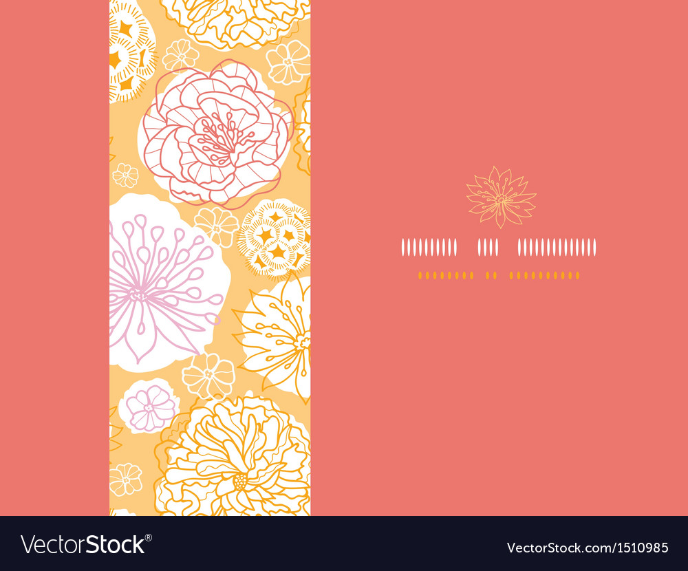 Warm day flowers horizontal seamless pattern vector | Price: 1 Credit (USD $1)