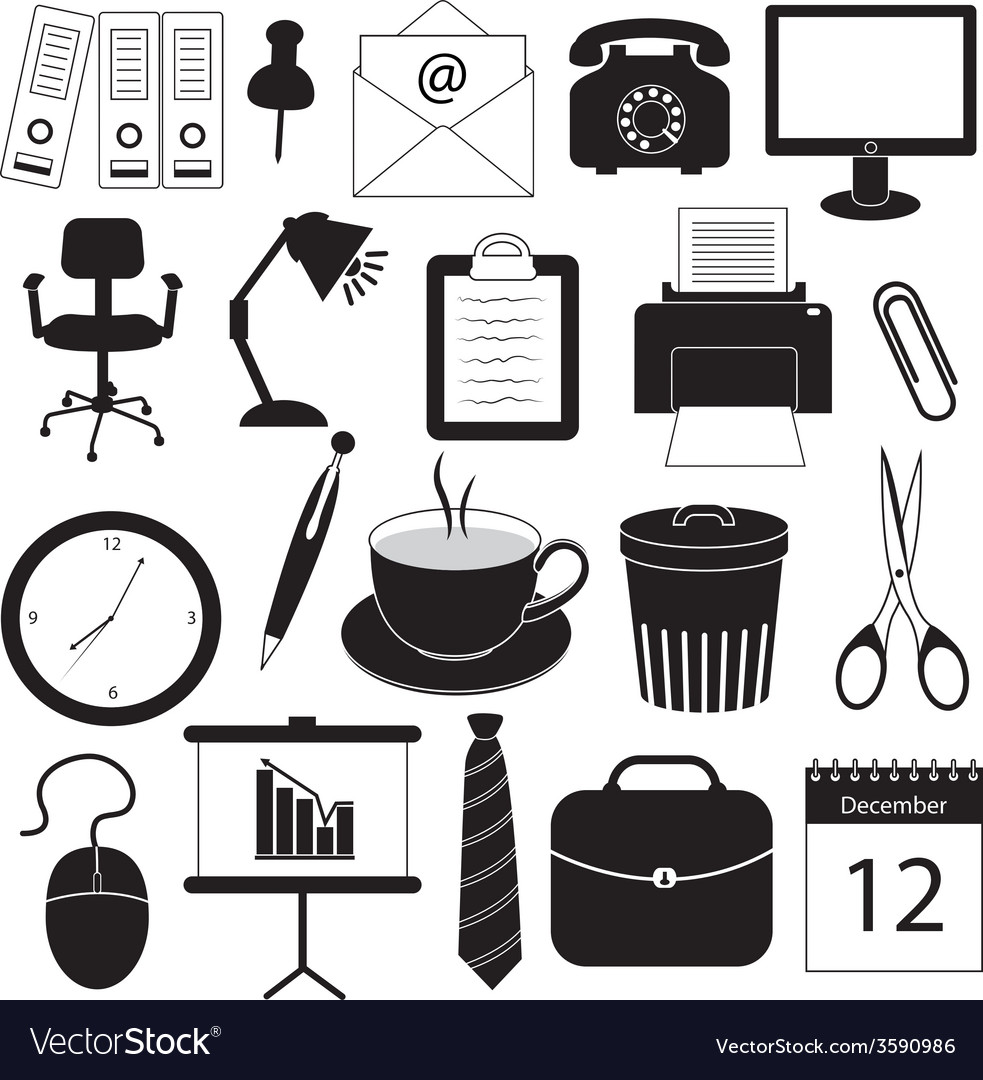 Business and office organization icons vector | Price: 1 Credit (USD $1)