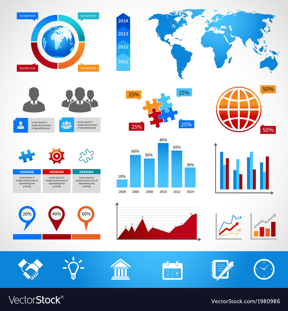 Business infographics layout design elements vector | Price: 1 Credit (USD $1)
