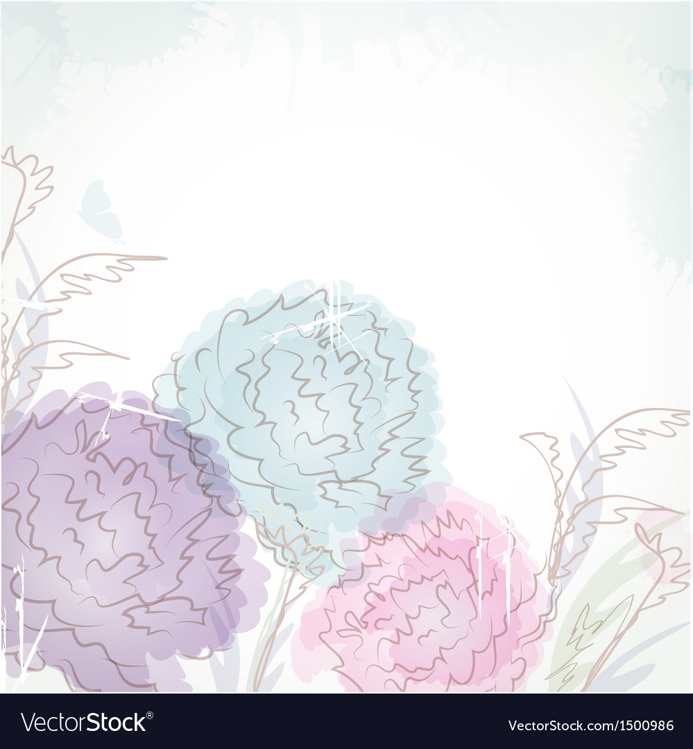 Delicate pattern with pastel colored flowers vector | Price: 1 Credit (USD $1)