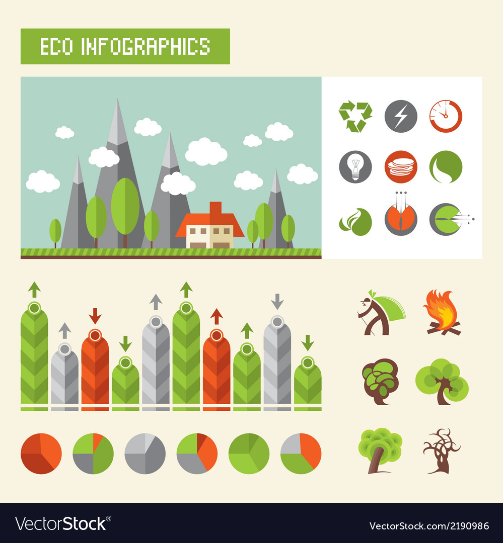 Eco infographics vector | Price: 1 Credit (USD $1)