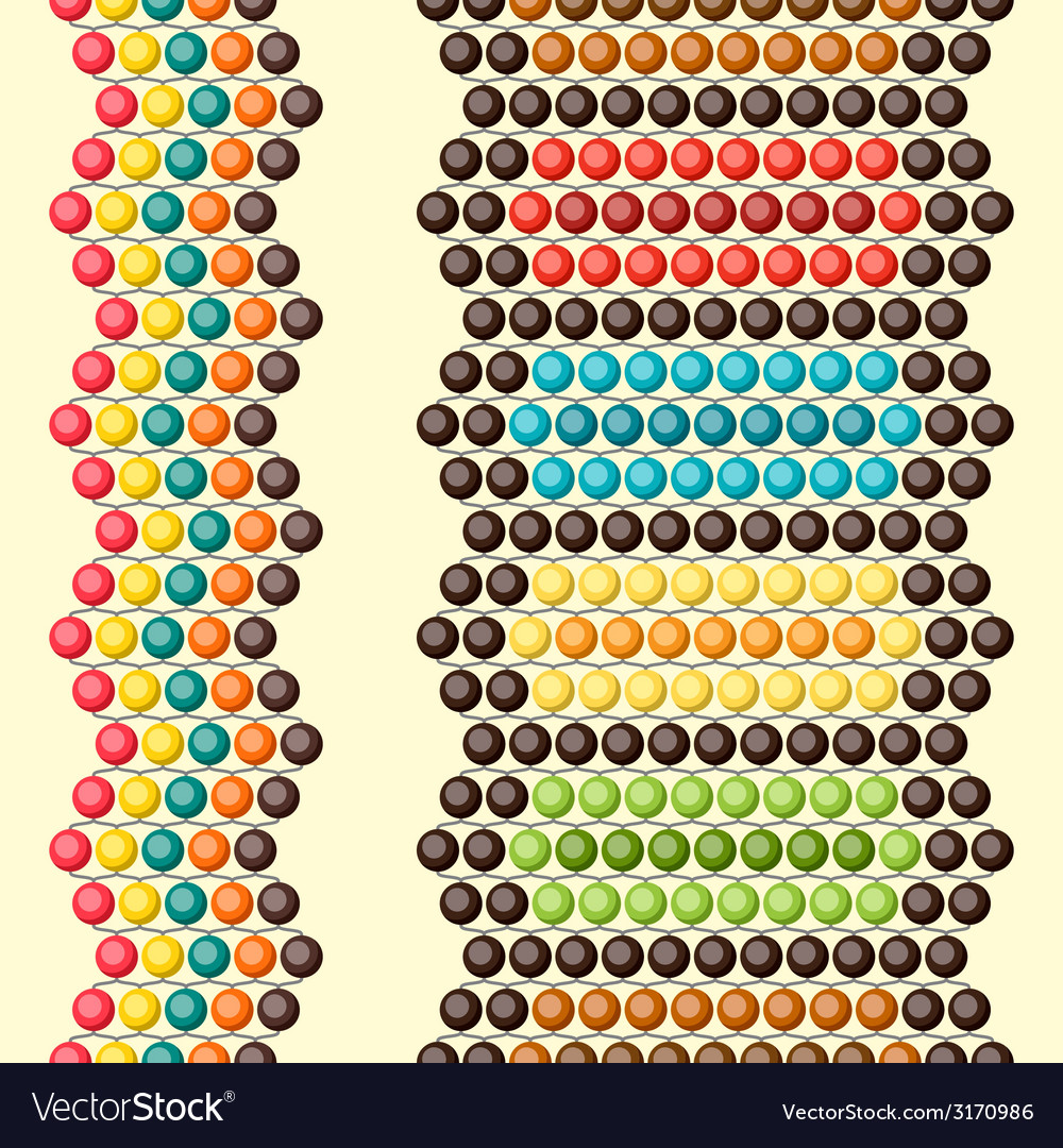Ethnic african beads abstract color seamless vector   Price: 1 Credit (USD $1)
