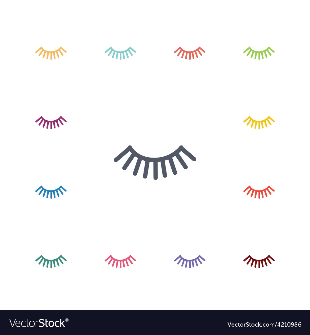 Eyelash flat icons set vector | Price: 1 Credit (USD $1)