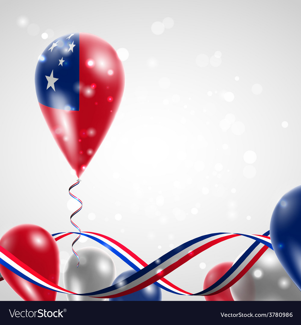 Flag of samoa on balloon vector   Price: 3 Credit (USD $3)