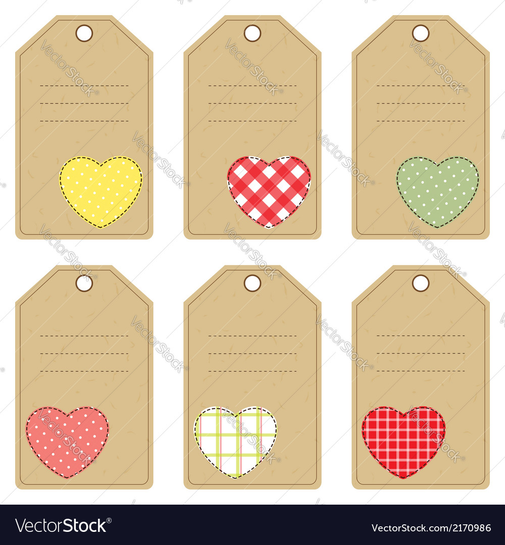 Gift tags with hearts vector | Price: 1 Credit (USD $1)