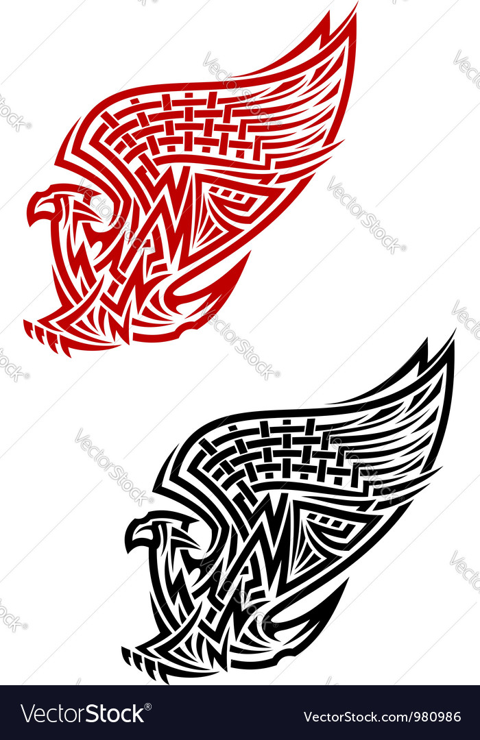 Griffin symbol in celtic style vector | Price: 1 Credit (USD $1)