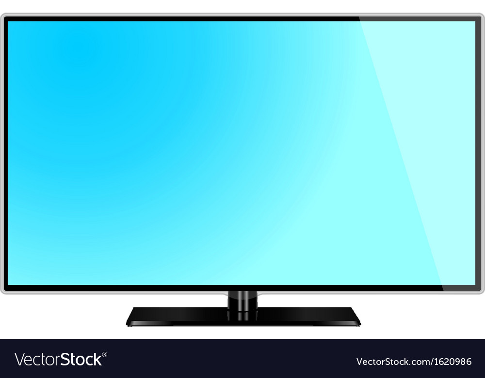Lcd screen monitor tv vector | Price: 1 Credit (USD $1)
