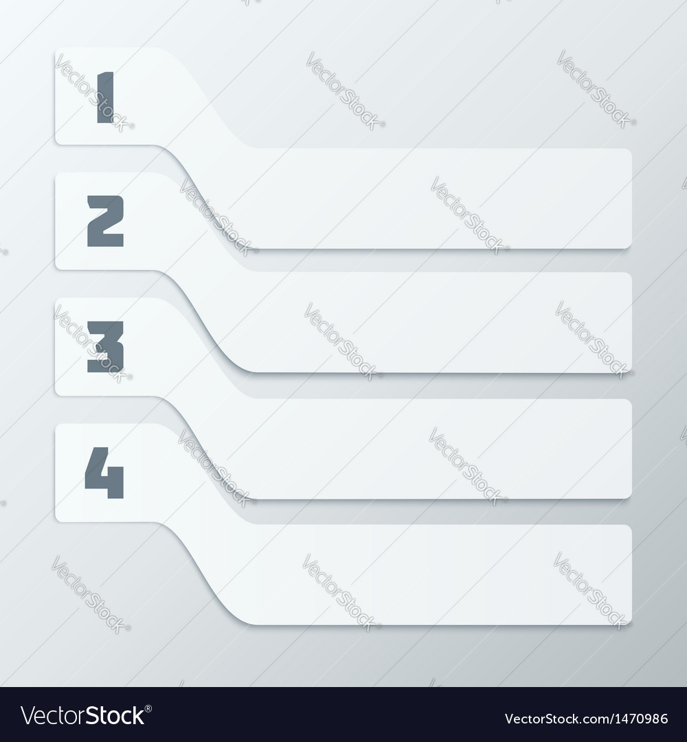 Light gray steps infographics elements vector | Price: 1 Credit (USD $1)