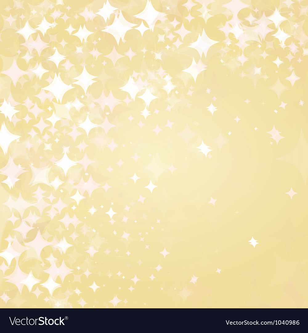 Light stars on golden background vector | Price: 1 Credit (USD $1)