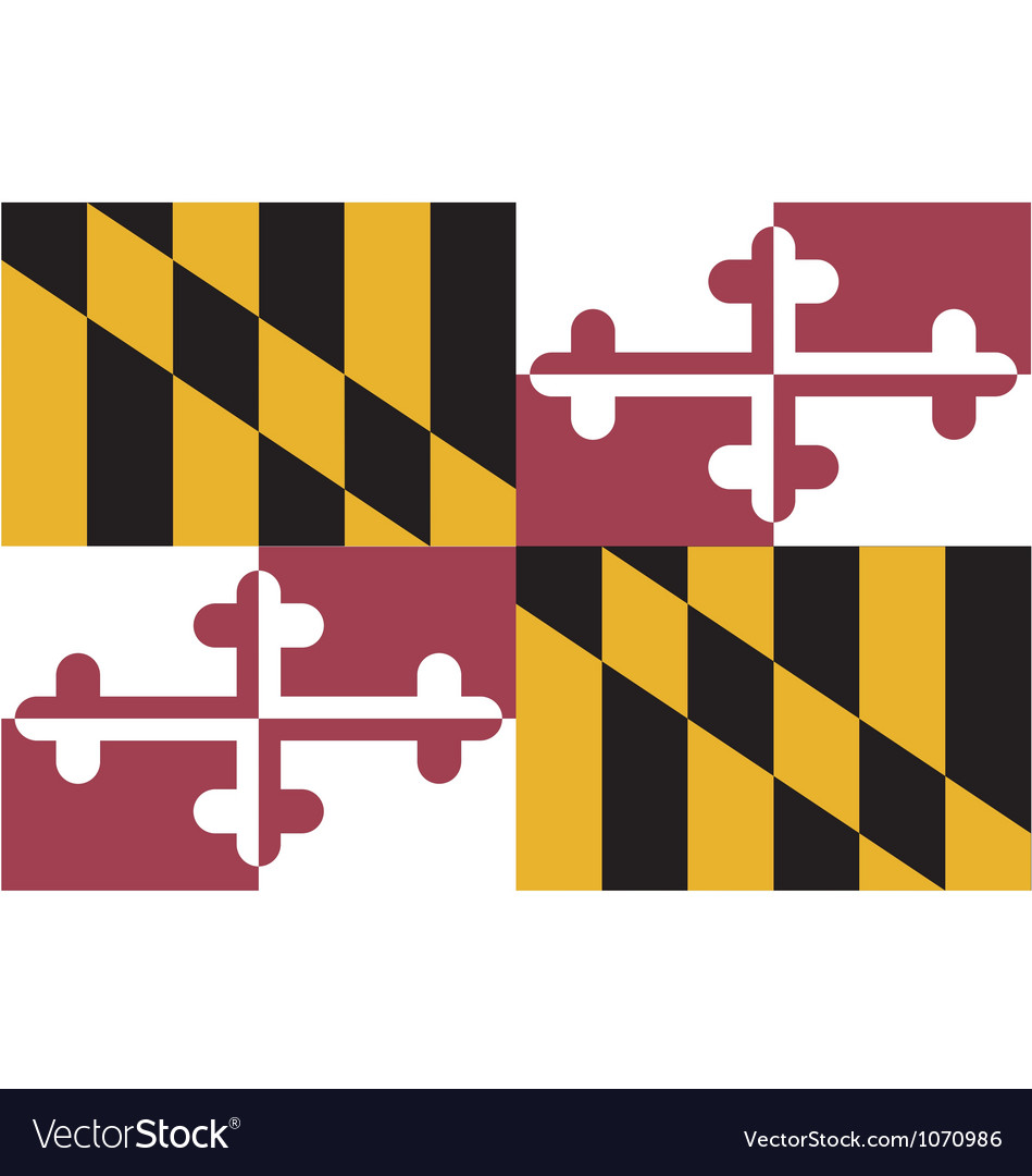Marylander state flag vector | Price: 1 Credit (USD $1)
