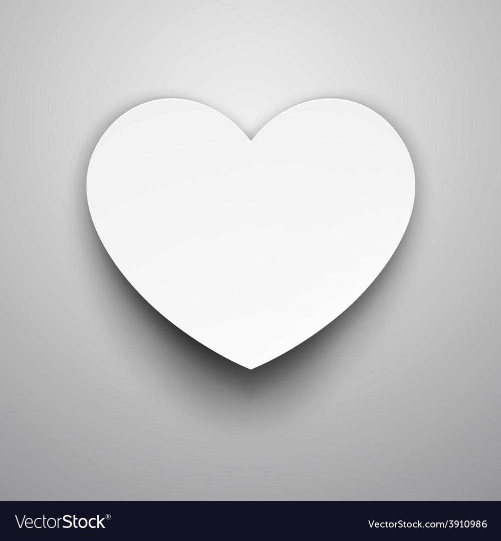 Paper white heart vector | Price: 1 Credit (USD $1)