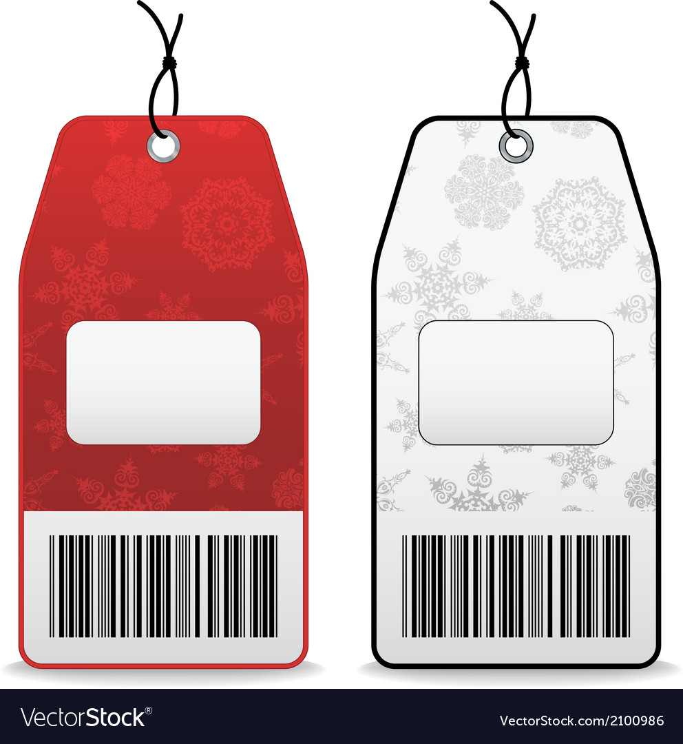 Price tags with snowflakes vector | Price: 1 Credit (USD $1)