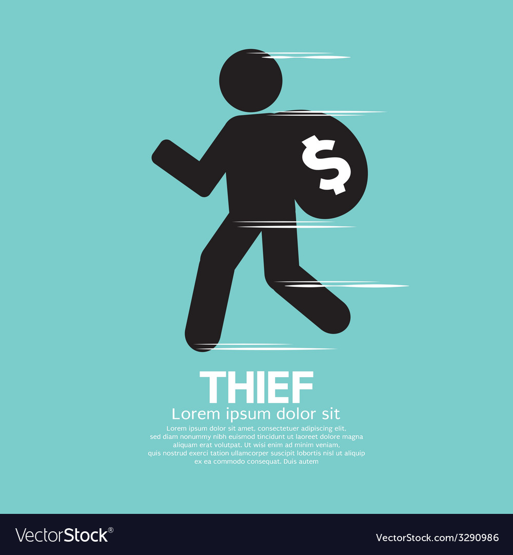 Thief black symbol graphic vector | Price: 1 Credit (USD $1)