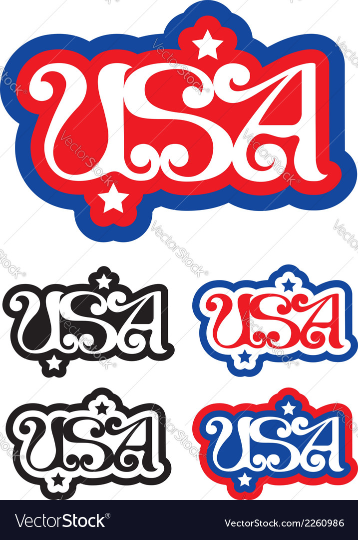 Usa letters vector | Price: 1 Credit (USD $1)