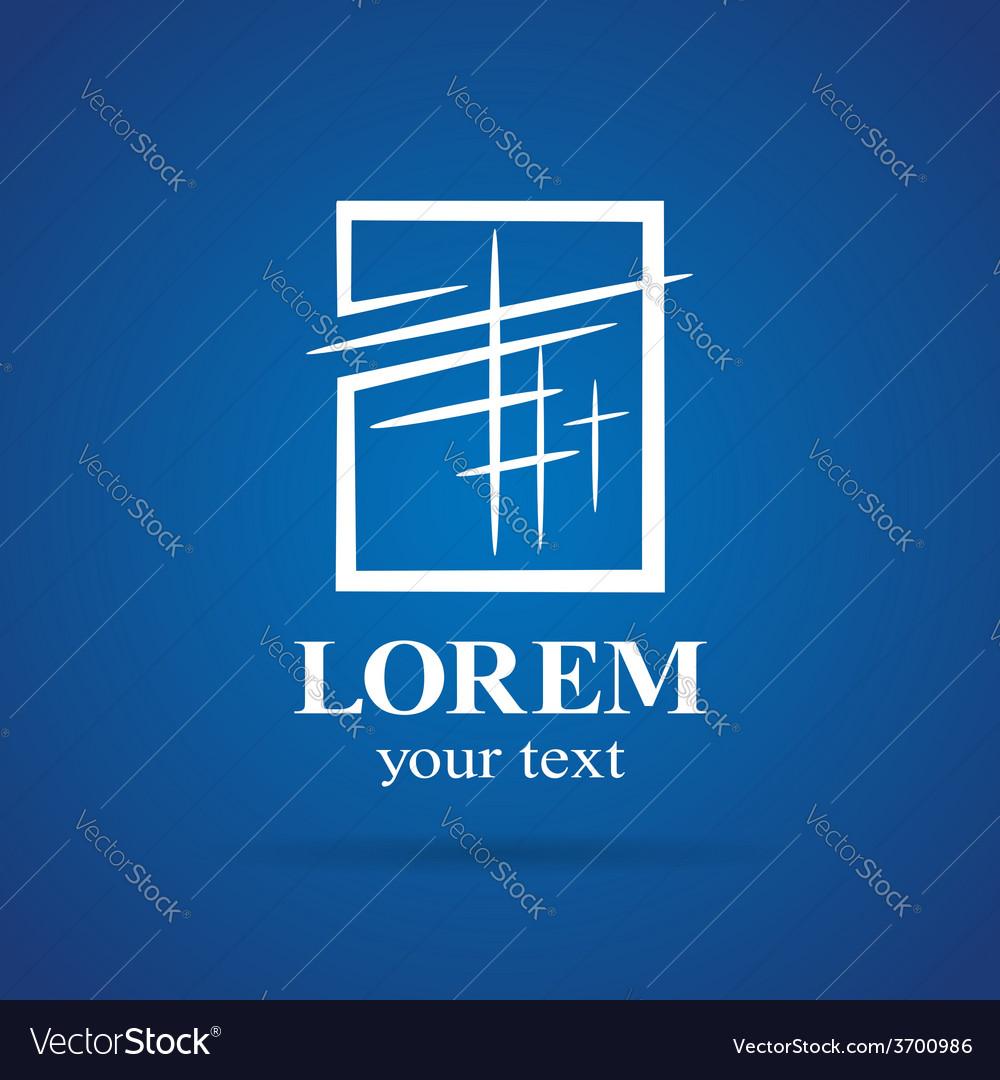 Windows plastic square emblem element icon symbol vector | Price: 1 Credit (USD $1)