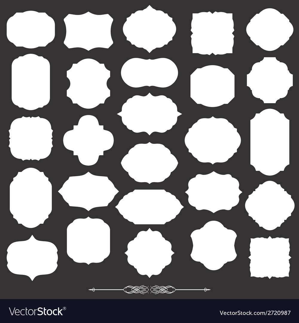 Blank frame and label big set vector | Price: 1 Credit (USD $1)