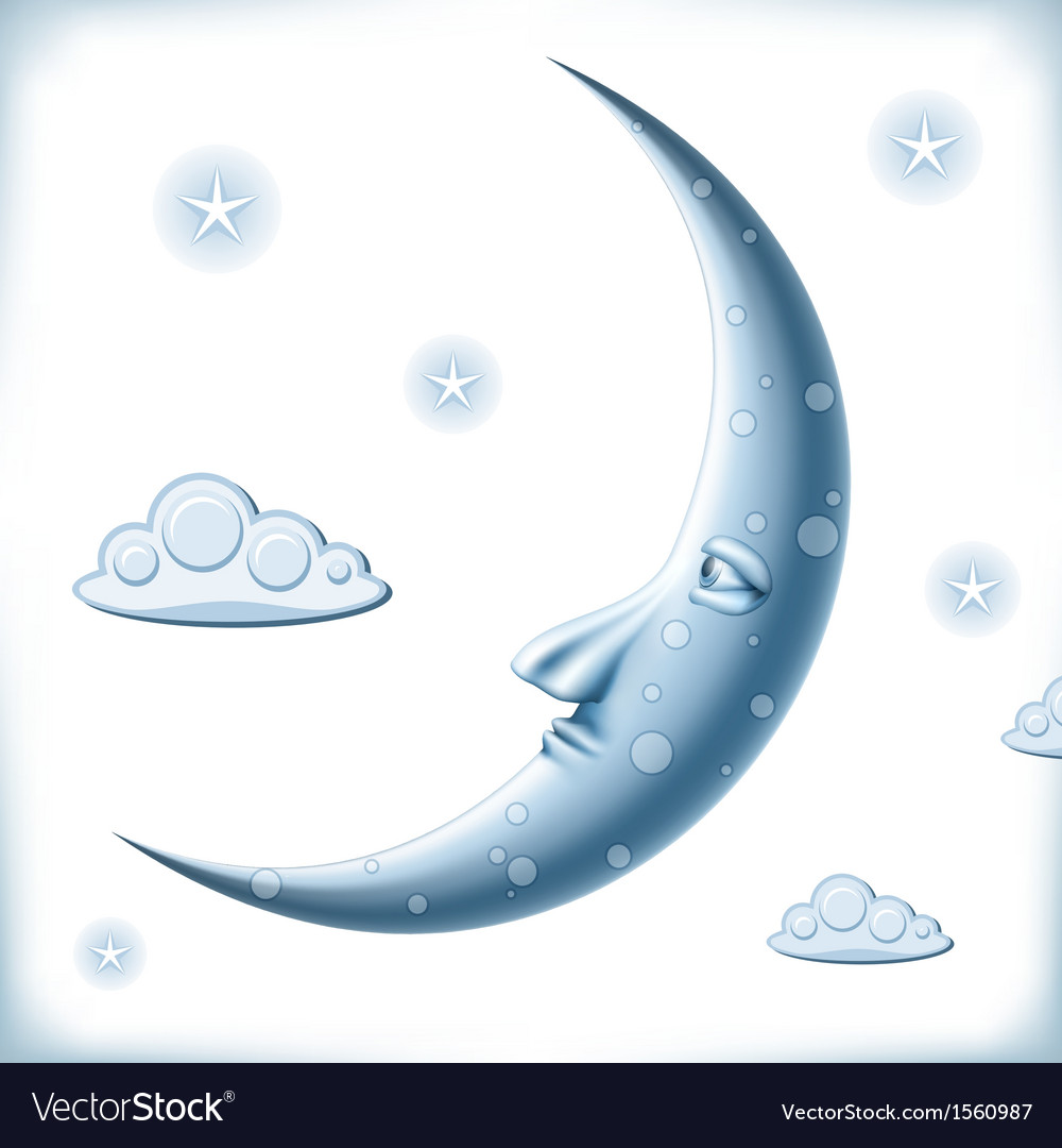 Blue moon vector   Price: 1 Credit (USD $1)