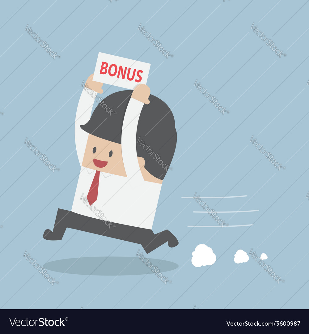 Businessman is happy because he got bonus money vector | Price: 1 Credit (USD $1)