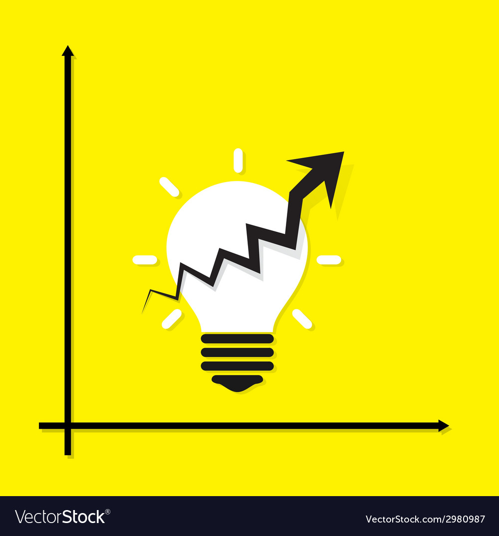 Creative light bulb idea concept background vector | Price: 1 Credit (USD $1)