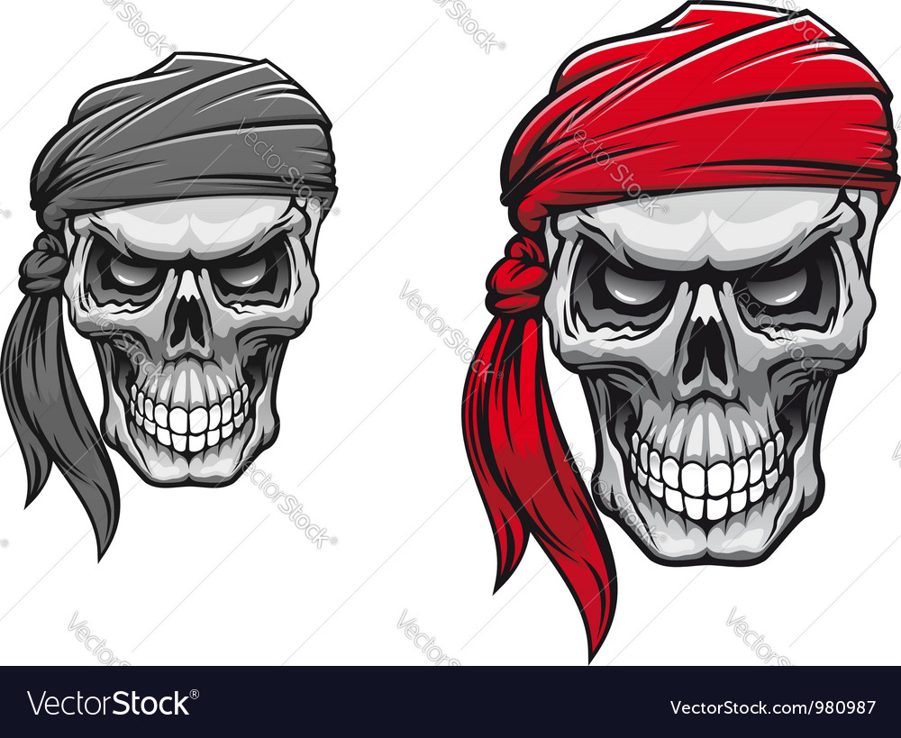 Danger pirate skull vector | Price: 3 Credit (USD $3)