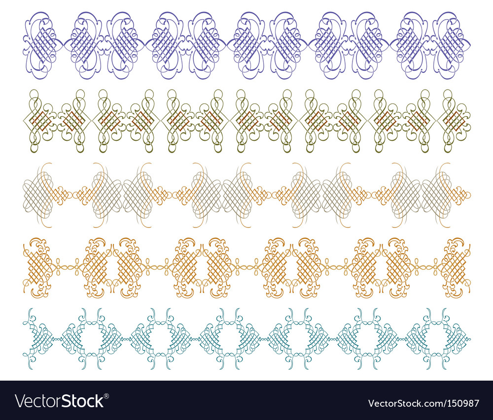 Decorative script  detailed vector | Price: 1 Credit (USD $1)