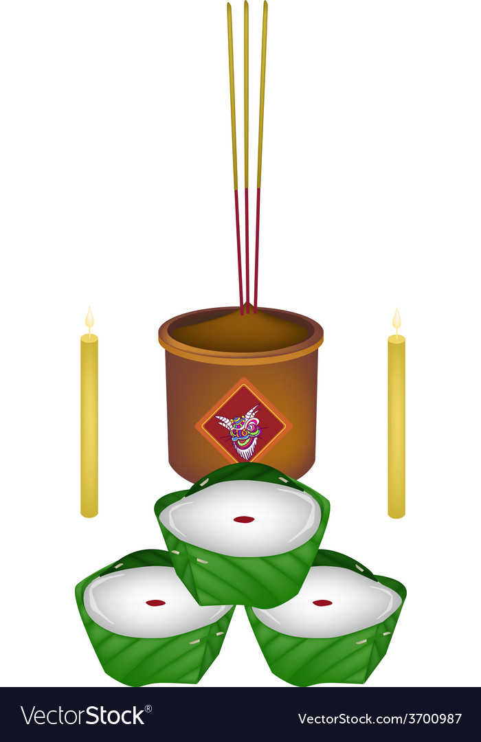 Delicious chinese pudding for new year worship vector | Price: 1 Credit (USD $1)