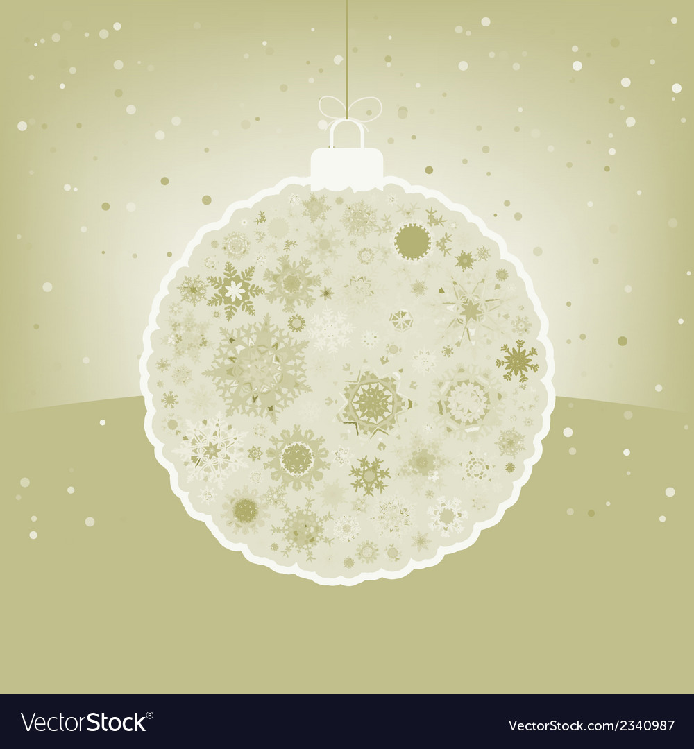 Elegant christmas ball with greeting eps 8 vector | Price: 1 Credit (USD $1)