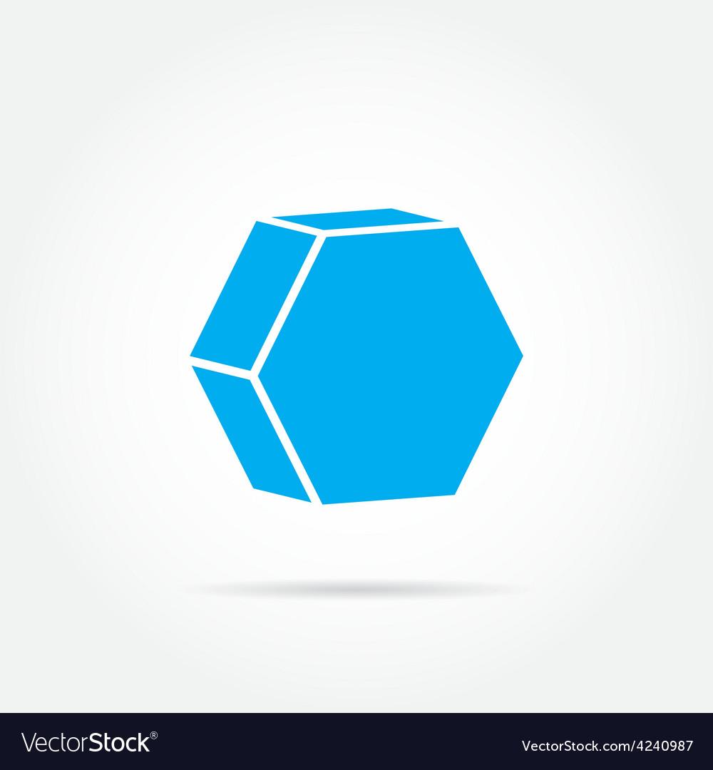 Emblem hexagon vector   Price: 1 Credit (USD $1)