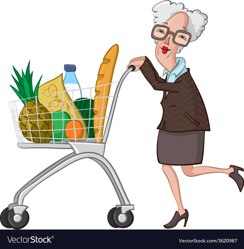Grocery shopping vector | Price: 1 Credit (USD $1)