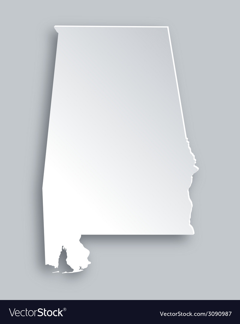 Map of alabama vector | Price: 1 Credit (USD $1)