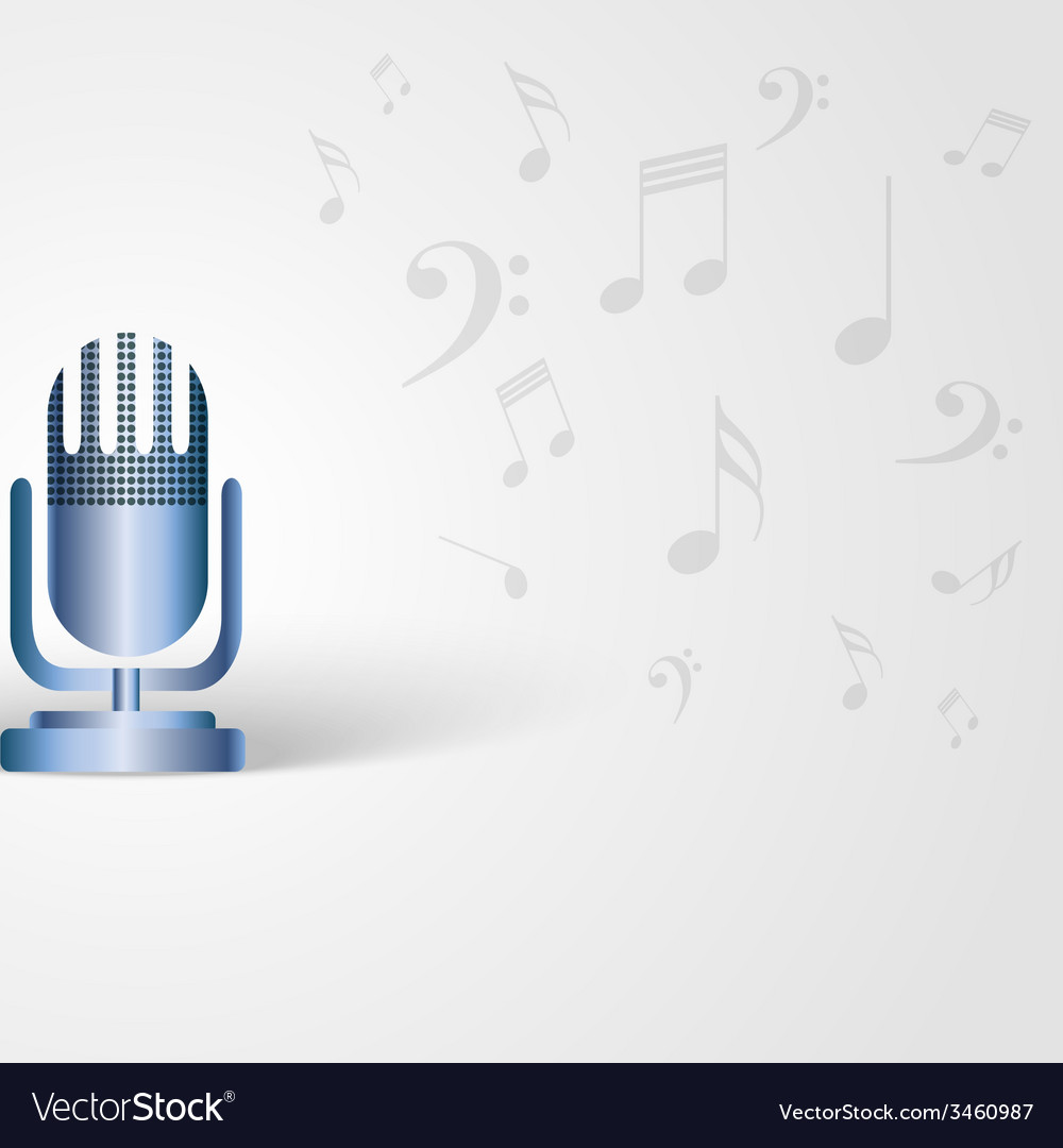 Music background with microphone shape and musical vector | Price: 1 Credit (USD $1)